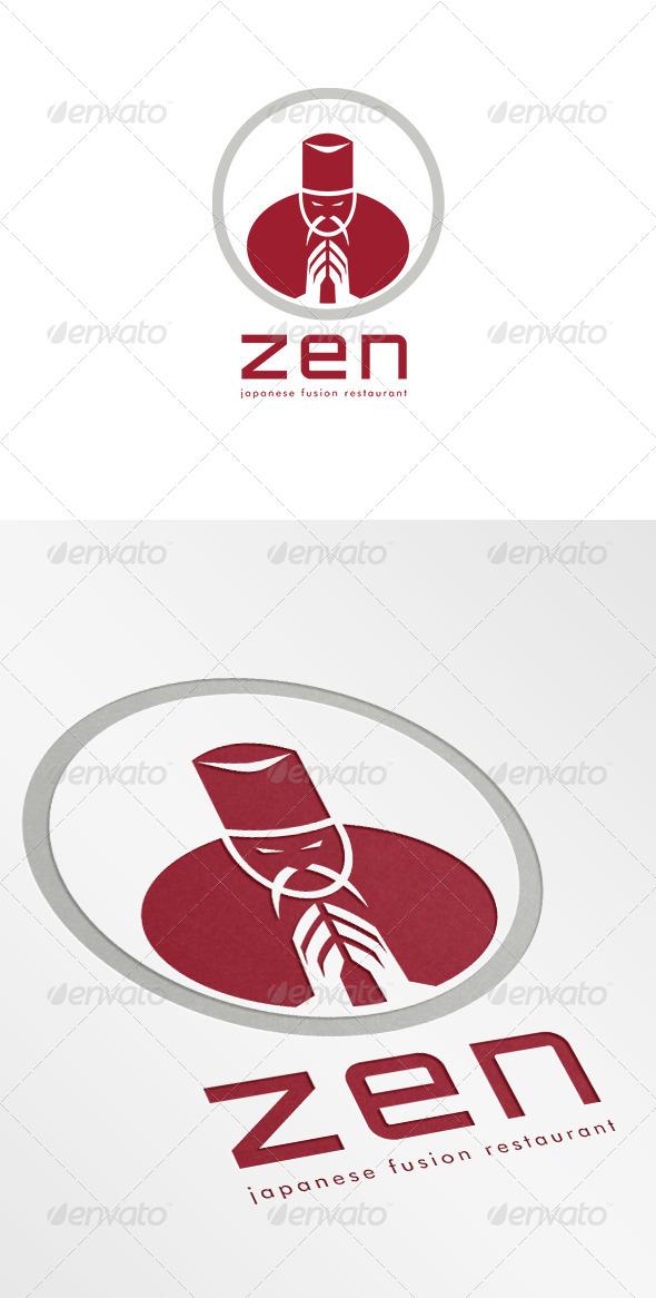Zen Japanese Fusion Restaurant Logo - Humans Logo Templates