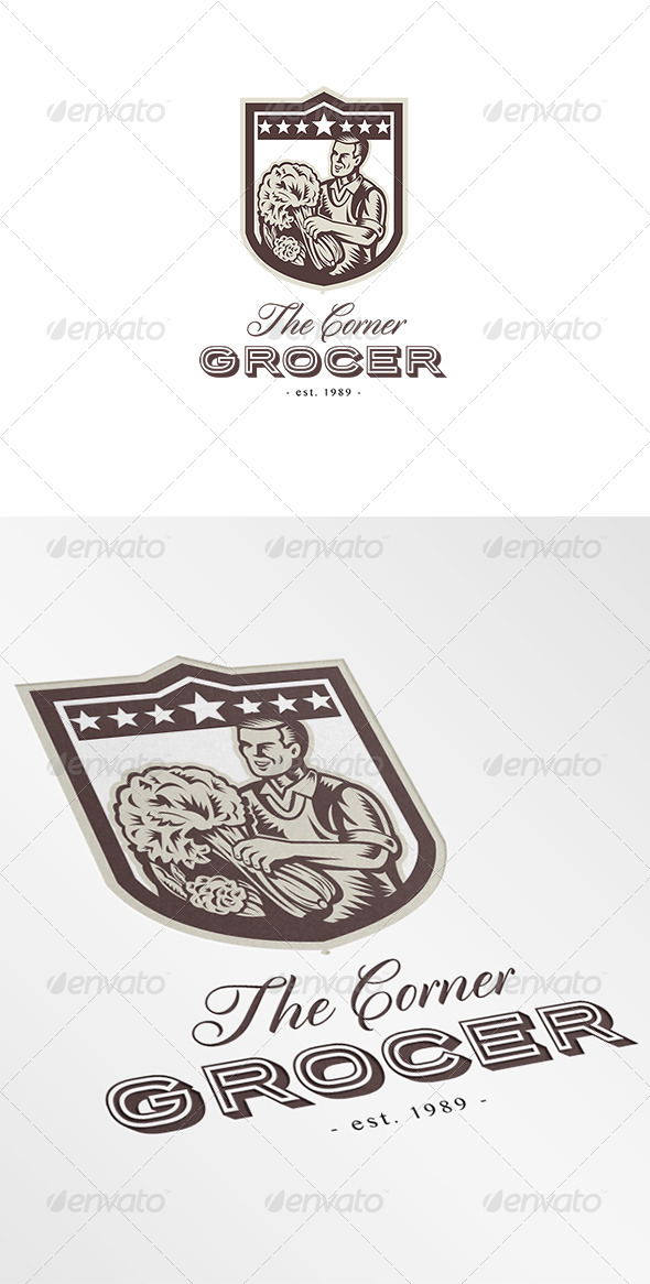 The Corner Green Grocer Logo - Humans Logo Templates