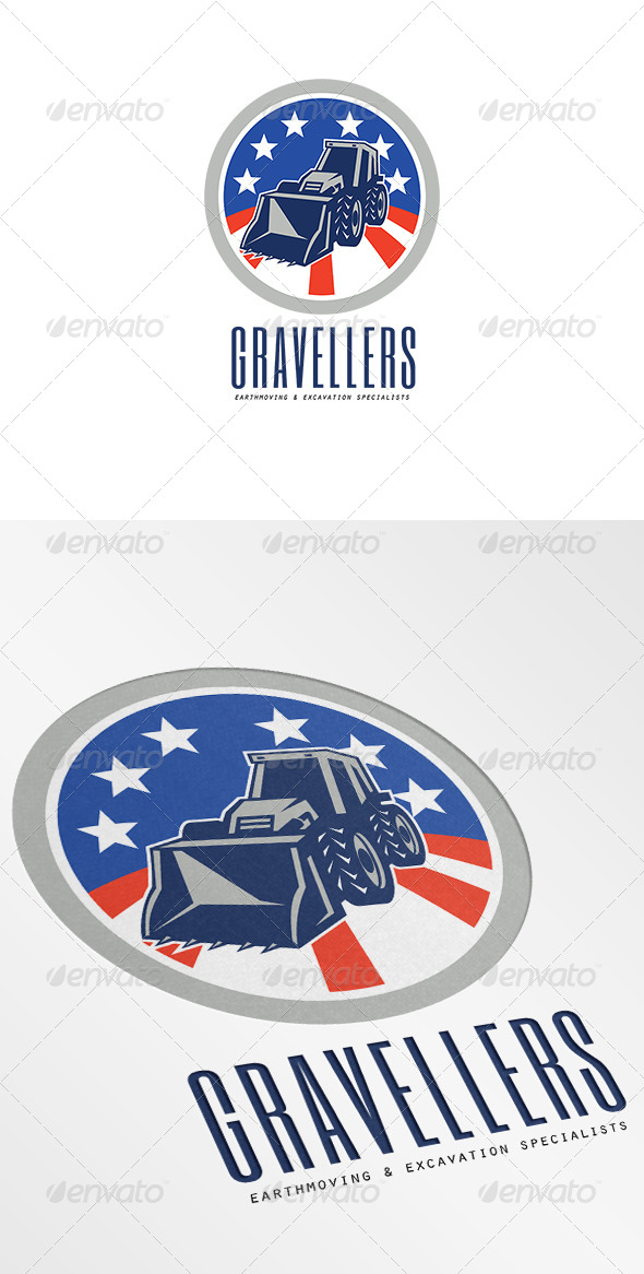 Gravellers Earthmoving and Excavation Specialists  - Objects Logo Templates