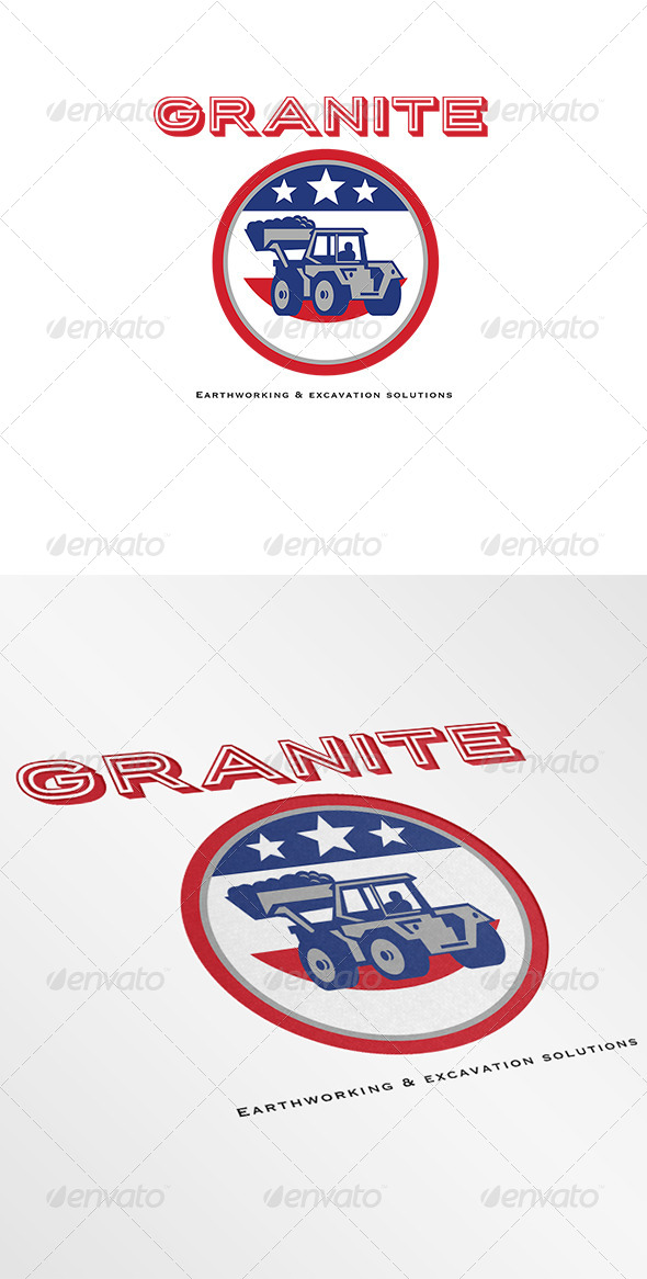 Granite Earthmoving and Excavation Solutions Logo - Objects Logo Templates