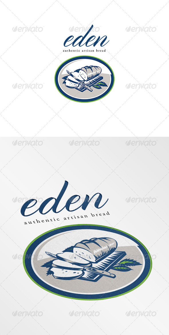 Eden Authentic Artisan Bread Logo - Food Logo Templates