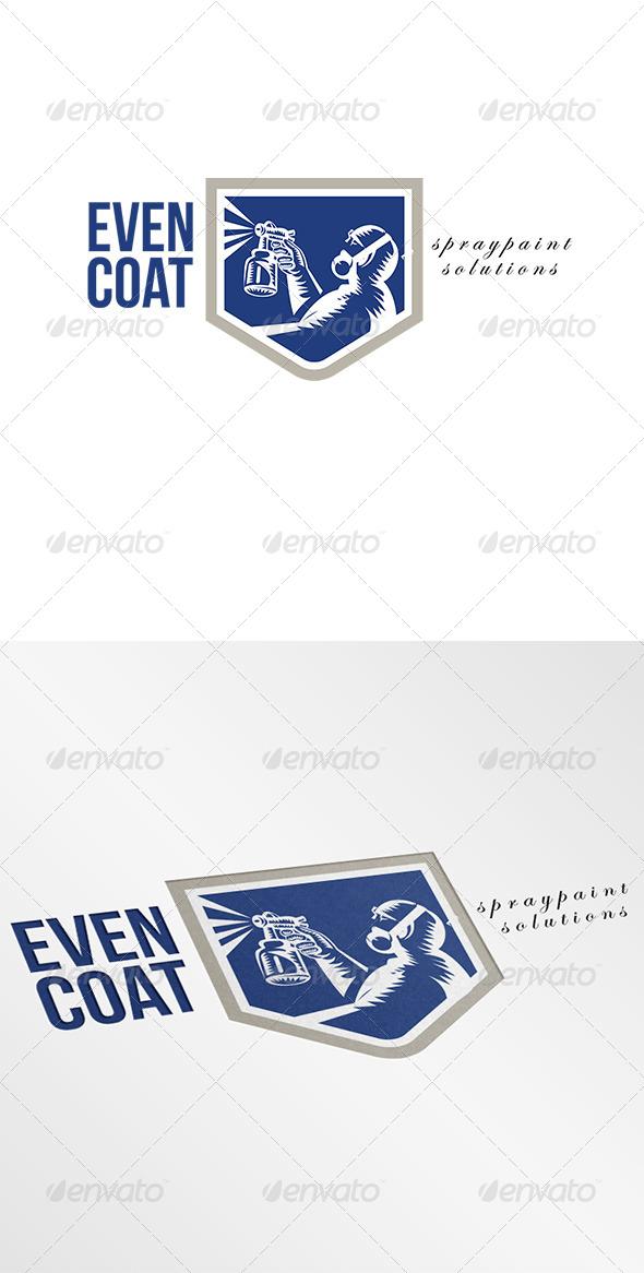 Even Coat Spraypaint Solutions Logo - Humans Logo Templates