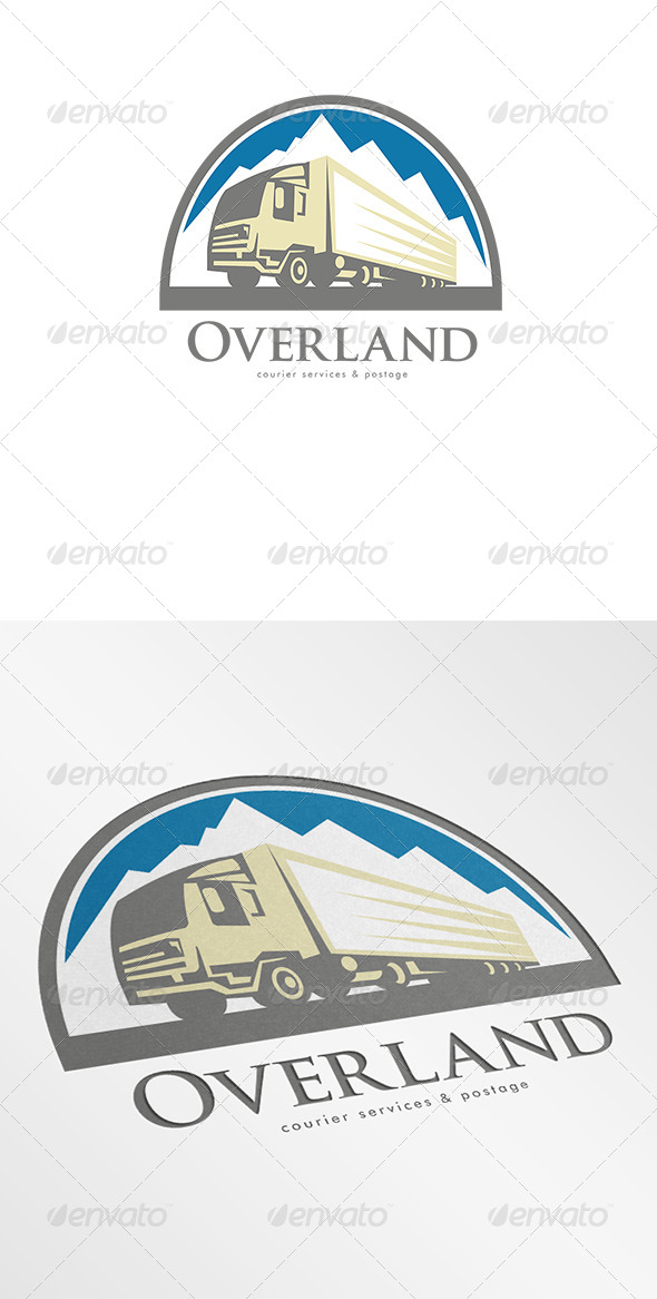 Overland Courier Services Logo - Objects Logo Templates