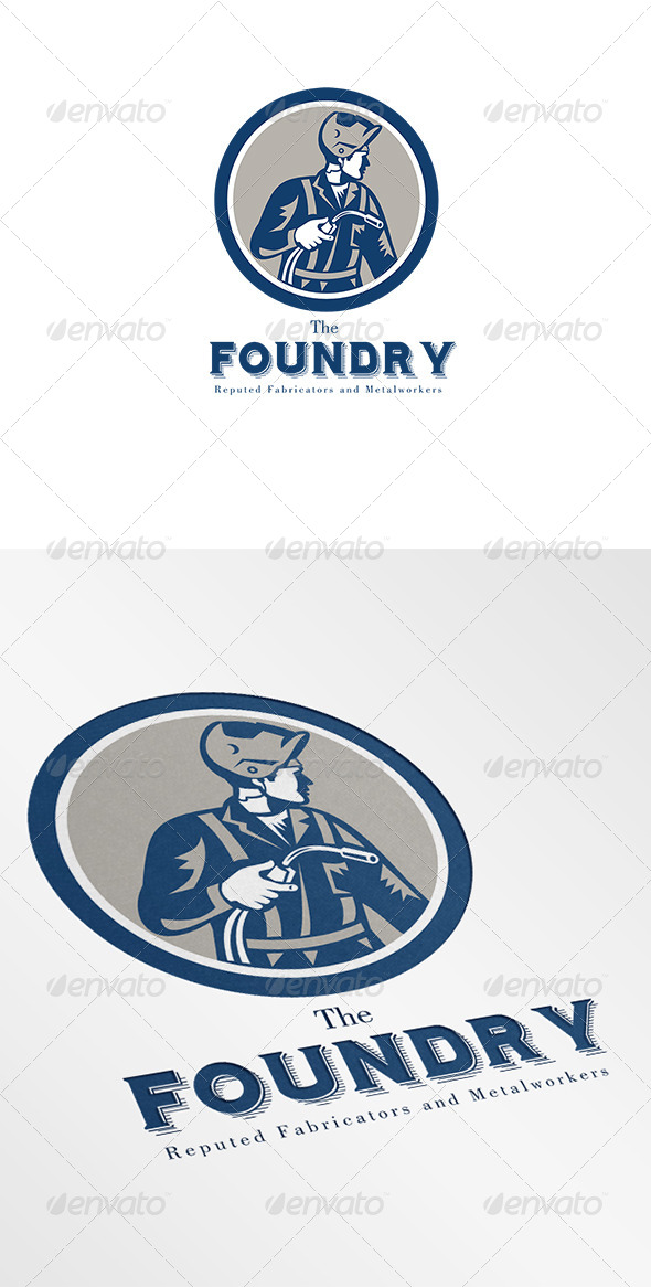 Foundry Metalworkers Logo - Humans Logo Templates
