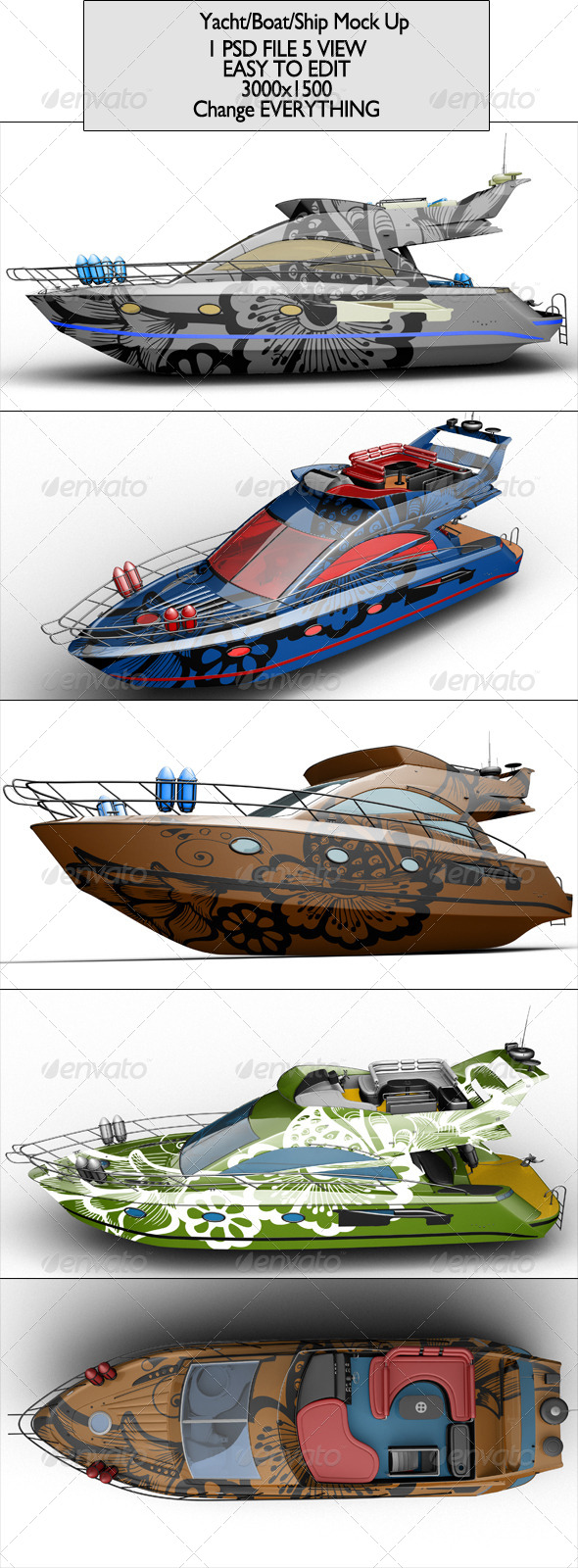 Yacht/Boat/Ship Mock Up - Product Mock-Ups Graphics
