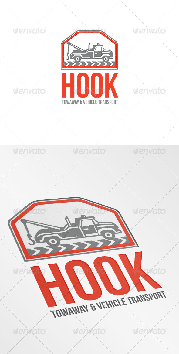 Hook Towaway and Vehicle Transport Logo - Objects Logo Templates