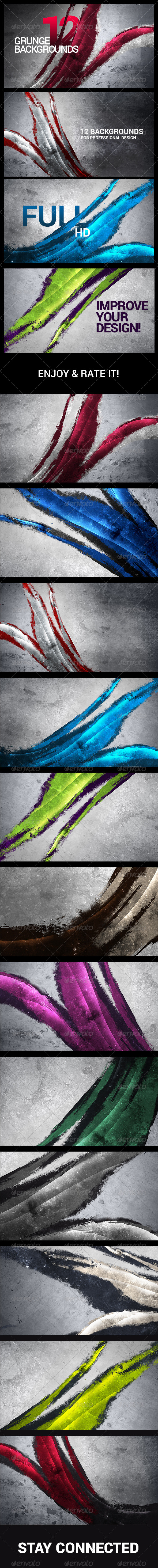 12 Painted/Urban/Abstract/Grunge Backgrounds - Abstract Backgrounds