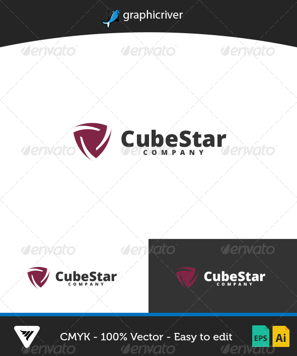 CubeStar Logo - Logo Templates