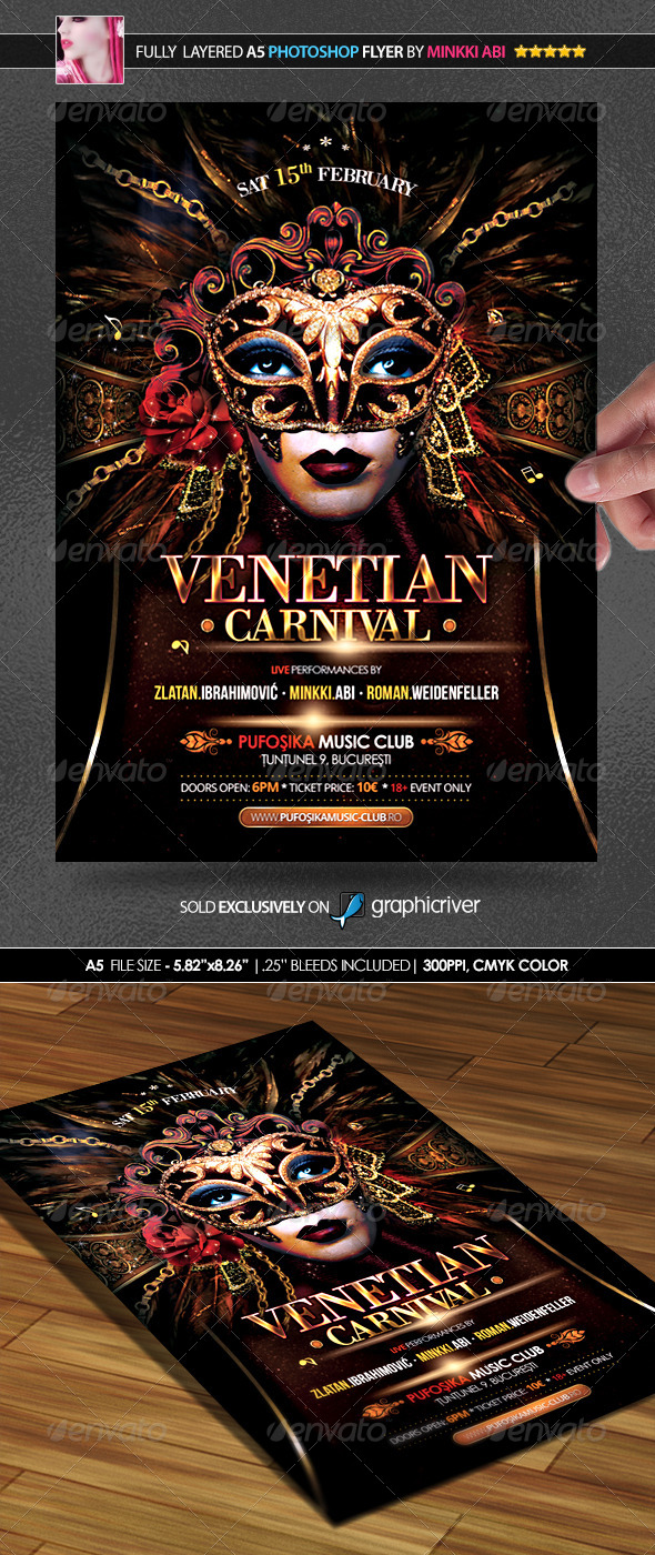 Venice Carnival Poster/Flyer - Events Flyers