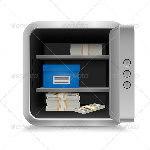 Safe with Money - Miscellaneous Vectors
