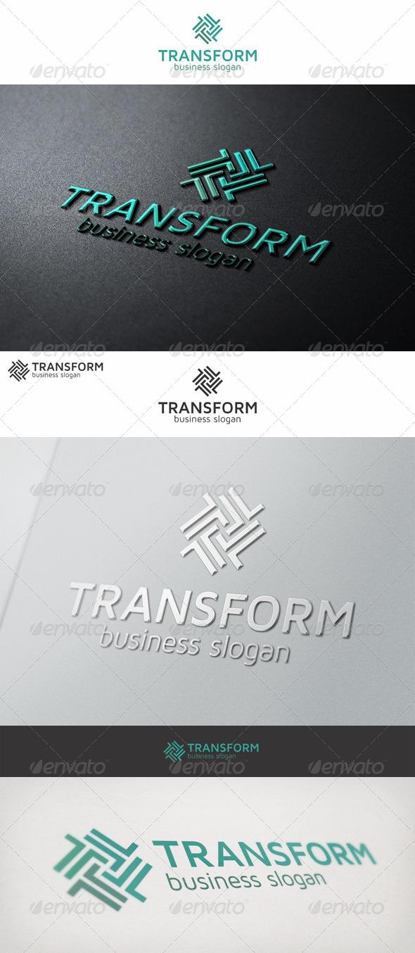 Transform Logo Letter T - Letters Logo Templates