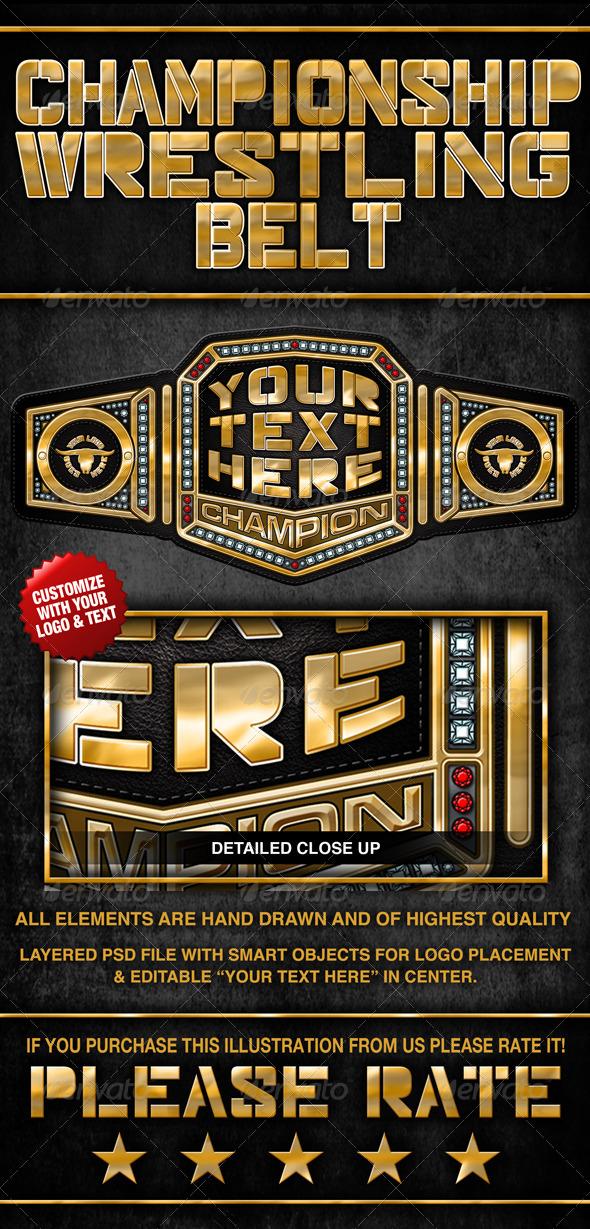 championship wrestling belt by bjangell83 graphicriver