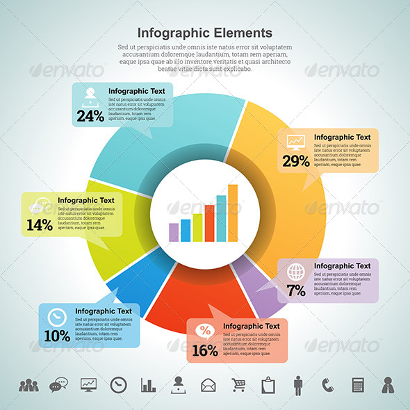 Pie Percentage Infographic Element - Infographics