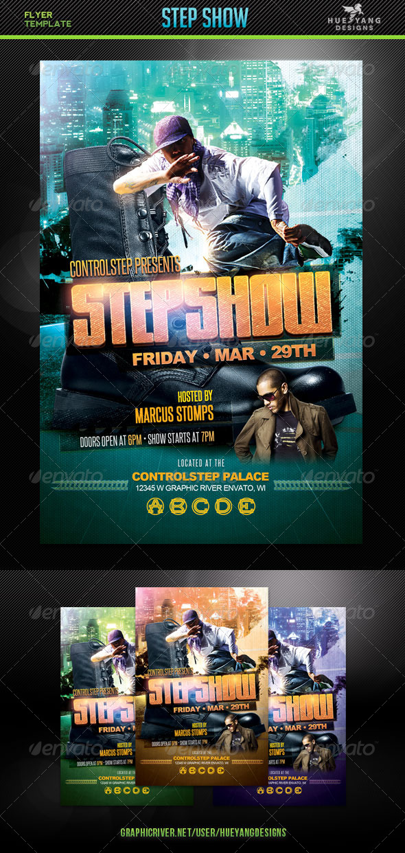 Step Show Flyer - Clubs & Parties Events