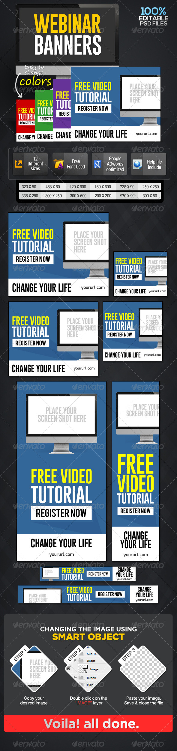 Webinar Banners - Banners & Ads Web Elements