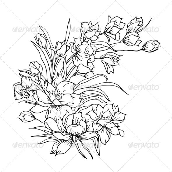 Flower Bouquet - Web Elements Vectors