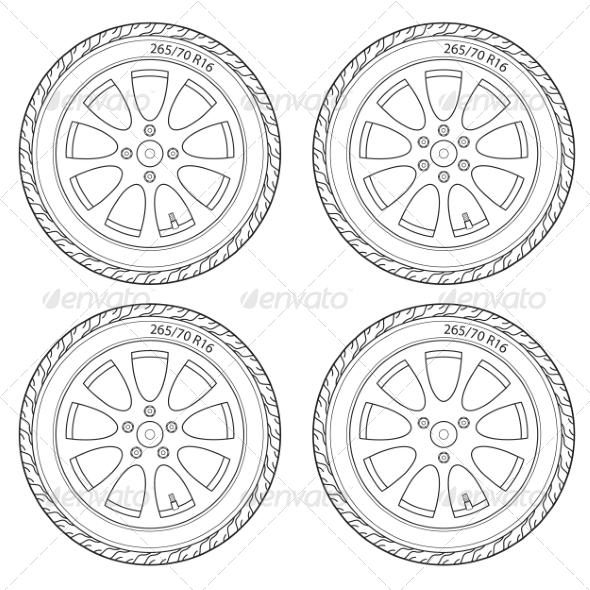 Car Wheel - Web Elements Vectors