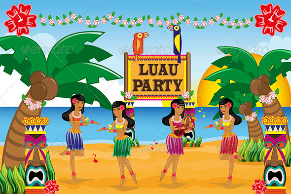Hawaiian Luau Party By Artisticco Graphicriver