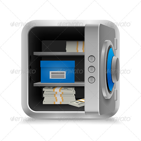 Safe Full of Money - Miscellaneous Vectors