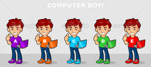 Computer Boy - People Characters