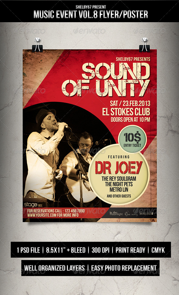 Music Event Flyer / Poster Vol.8 - Events Flyers