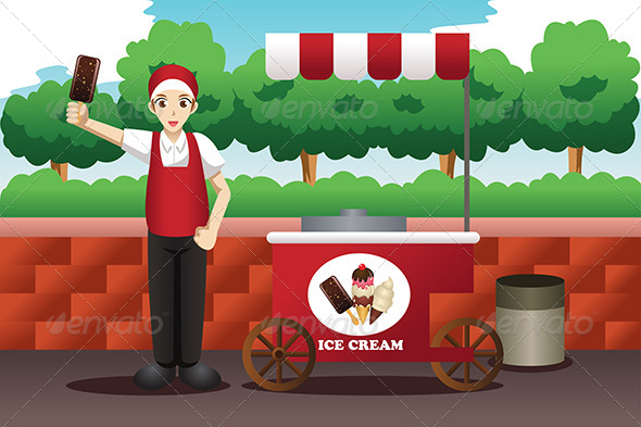 Ice Cream Man - People Characters