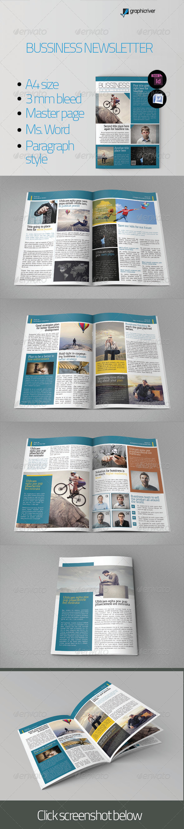 Bussiness Newsletter - Newsletters Print Templates