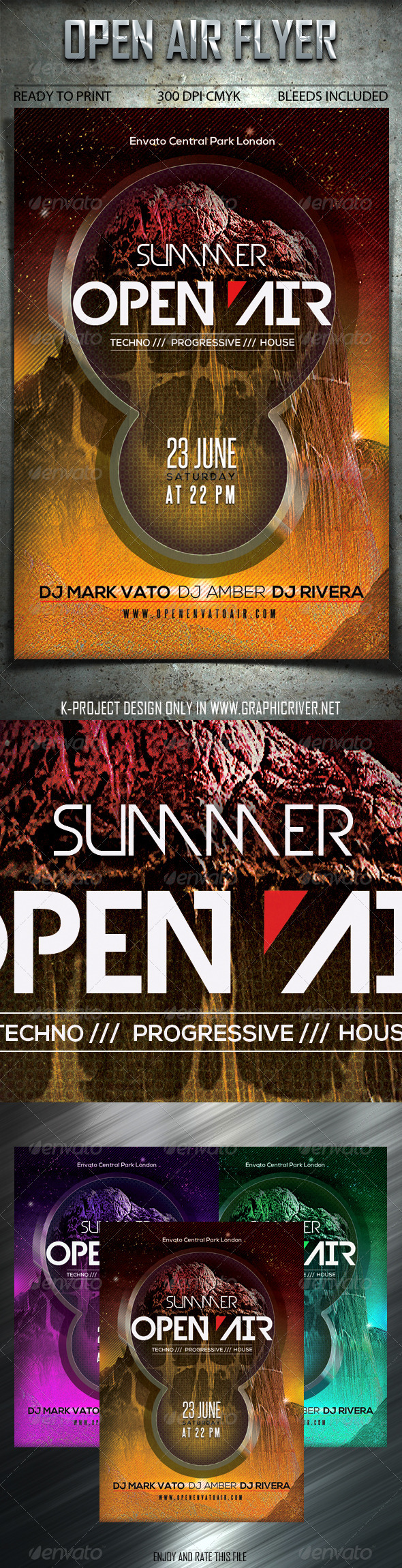 Open Air Flyer - Clubs & Parties Events