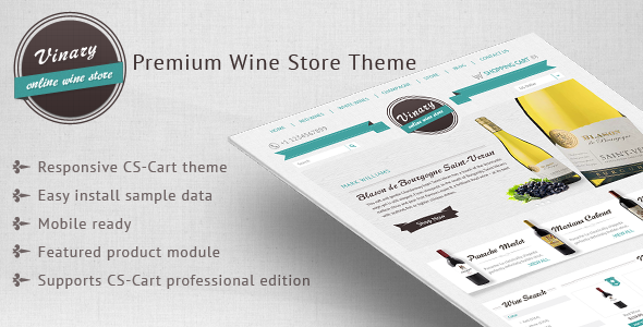 Vinary – Premium Wine store theme