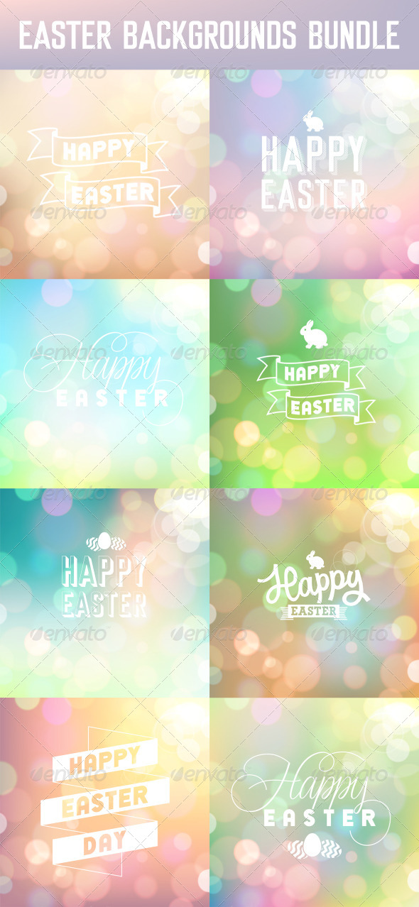 Easter Backgrounds Set - Seasons/Holidays Conceptual