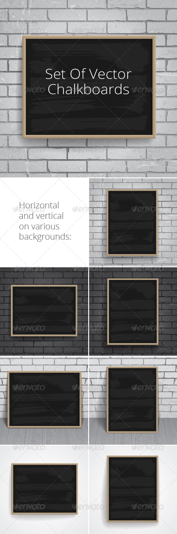 Black Chalkboards Pack - Miscellaneous Vectors