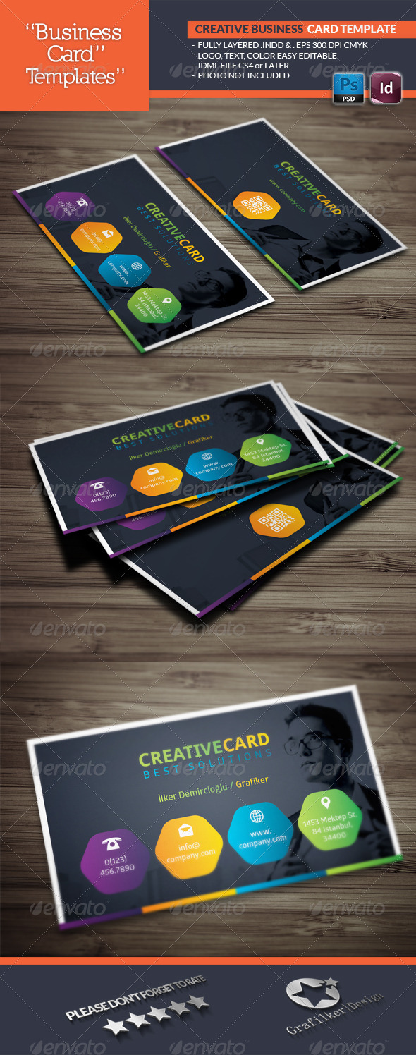 Creative Studio Business Card Template - Business Cards Print Templates