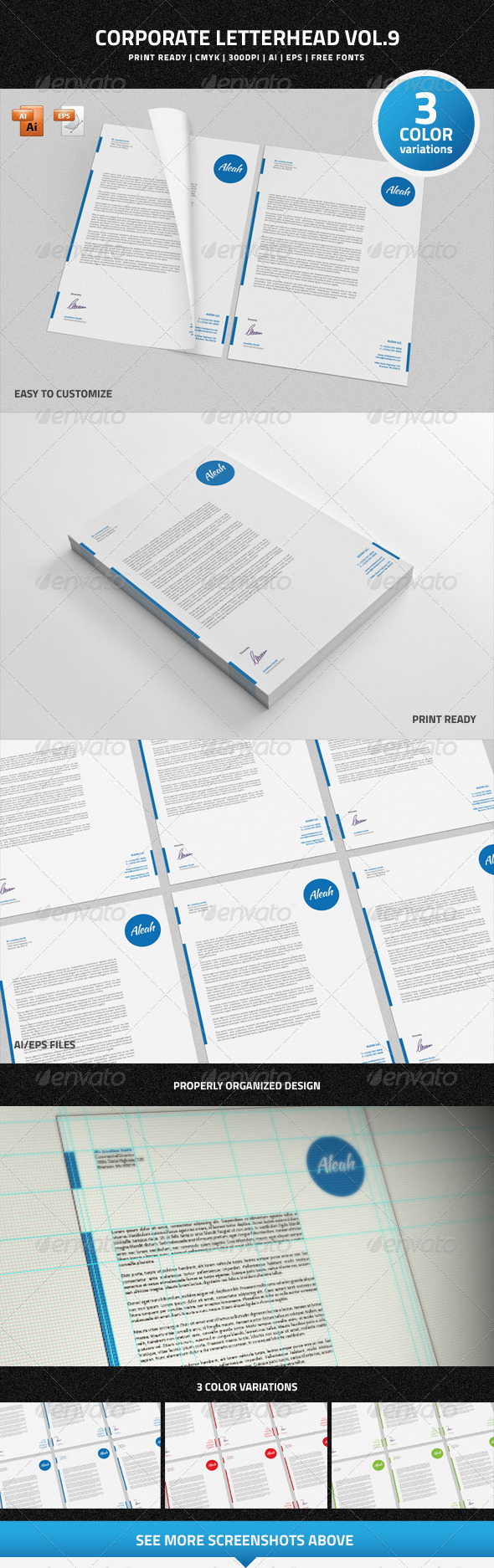 Corporate Letterhead vol.9 - Stationery Print Templates