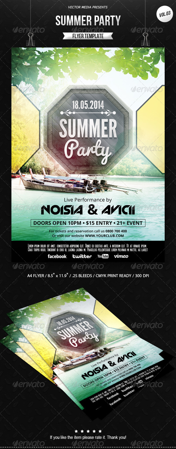 Summer Party - Flyer [Vol.3] - Clubs & Parties Events