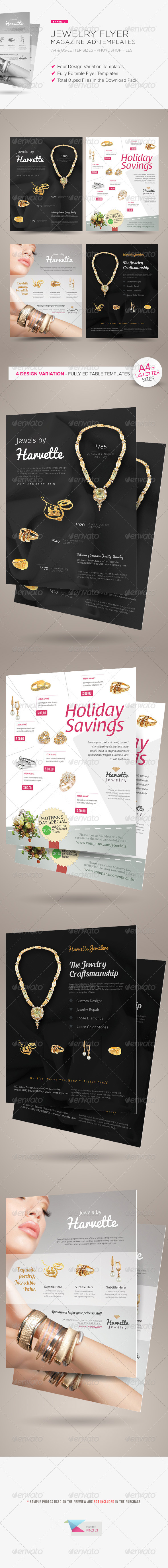 Jewelry Flyer or Magazine Ad Templates - Corporate Flyers