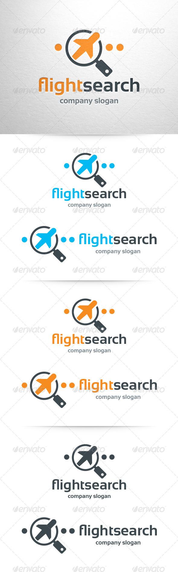 Flight Search Logo Template - Objects Logo Templates