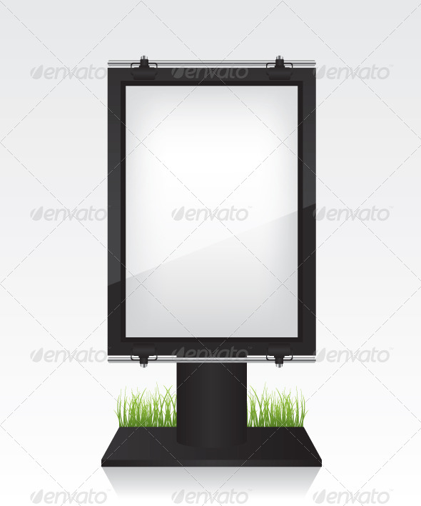 City Light Black Billboard - Objects Vectors