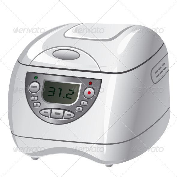 Electric Cooker - Vectors