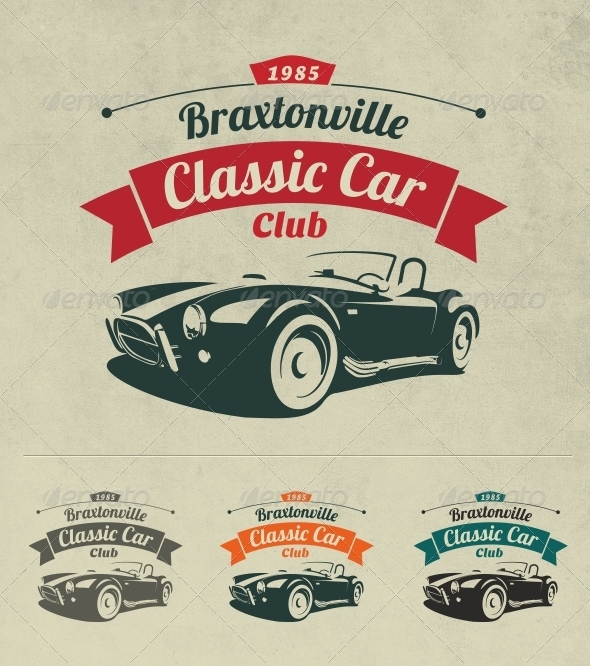 Classic Car Club Logo - Objects Logo Templates