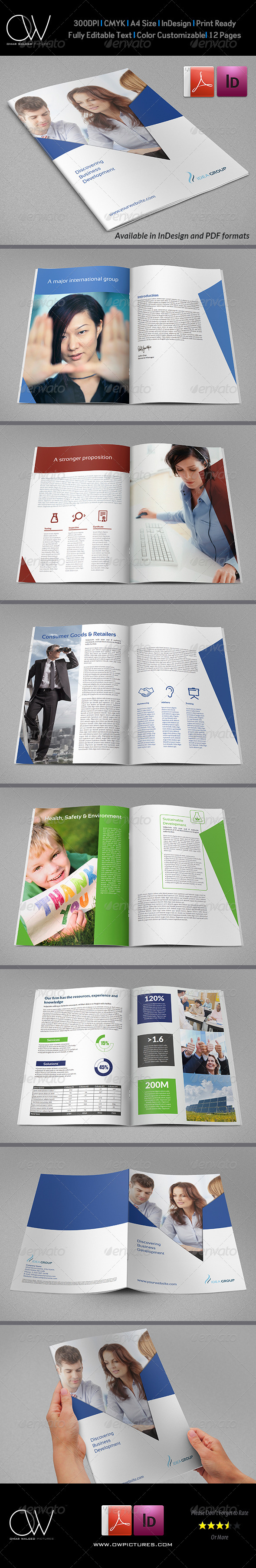 Corporate Brochure Template Vol.29 - 12 Pages - Corporate Brochures