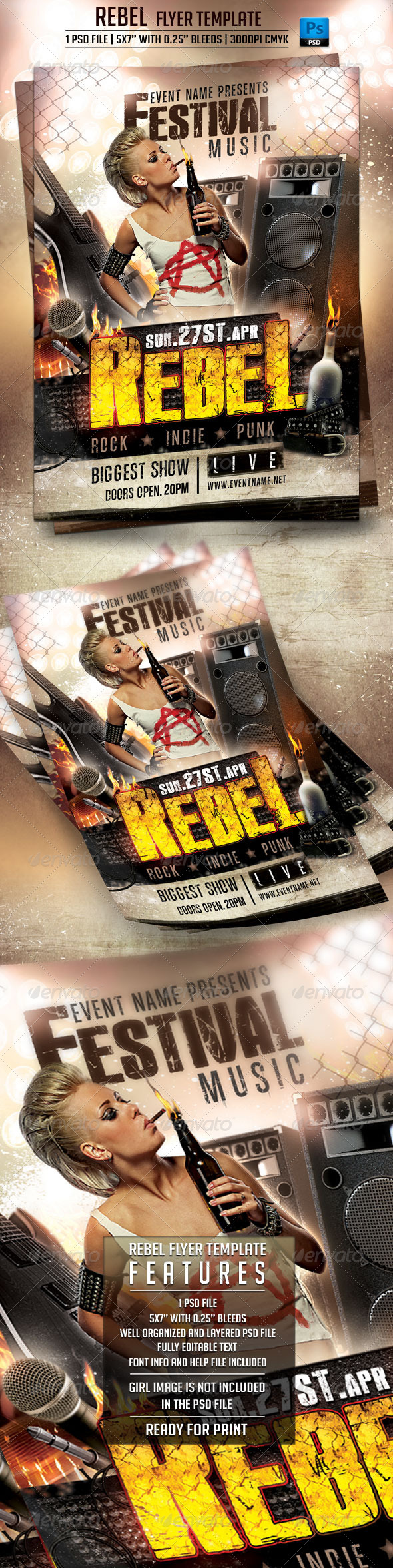 Rebel Flyer Template - Events Flyers