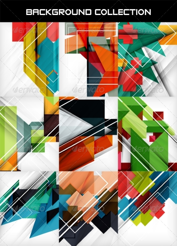 Geometric Abstract Backgrounds - Miscellaneous Vectors