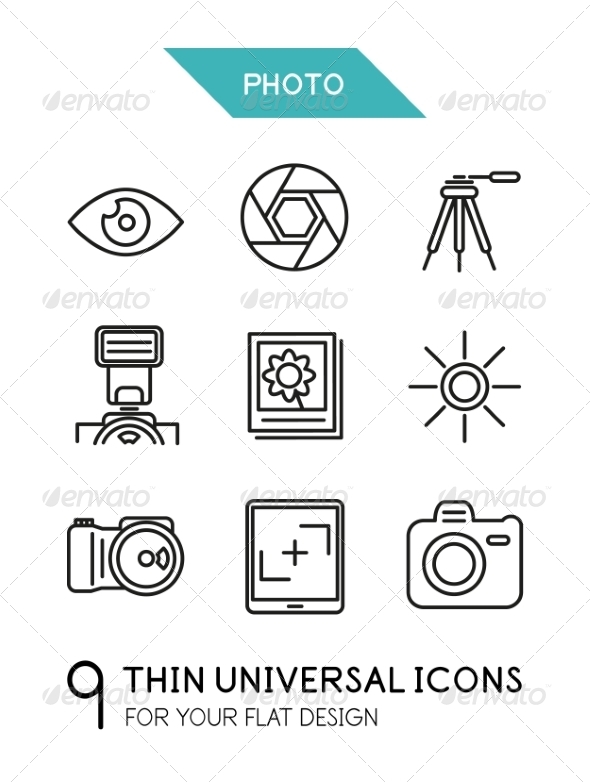 Collection of Photo Icons - Miscellaneous Vectors