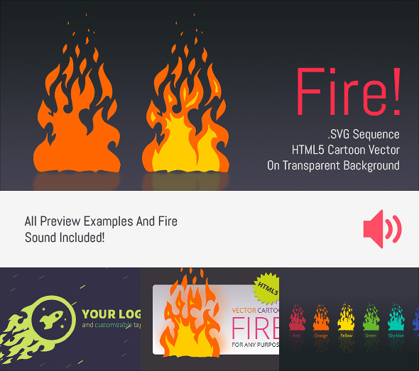 cartoon vector fire html5 edge banner animation codecanyon item for sale