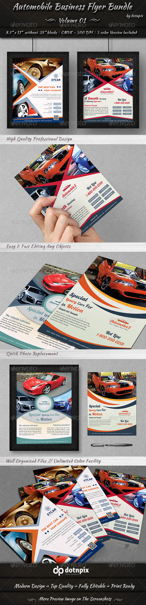 Automobile Business Flyer Bundle | Volume 1 - Corporate Flyers