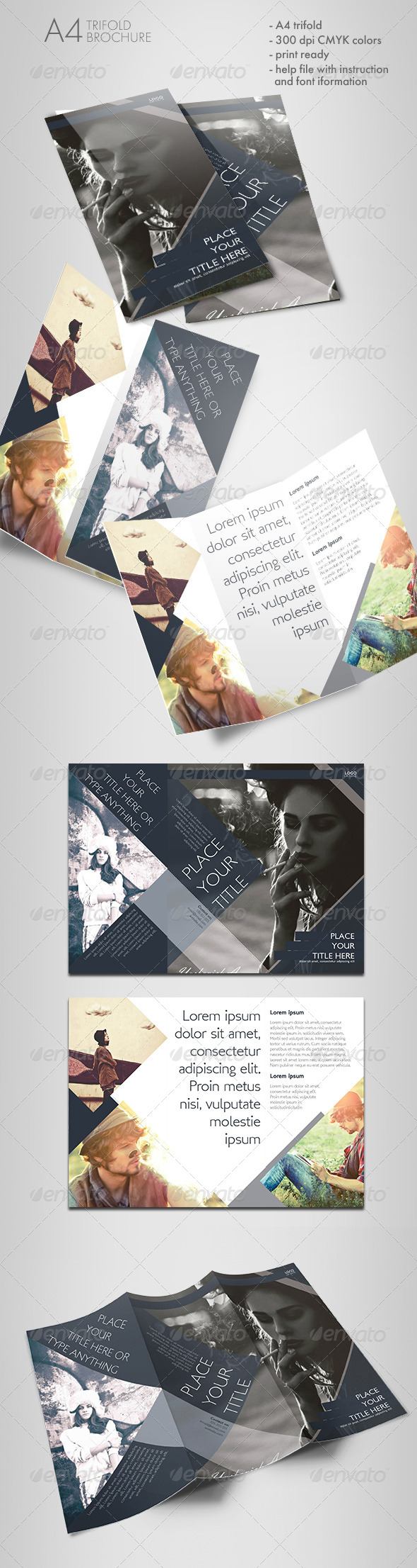 Shaped Trifold Brochure - Informational Brochures