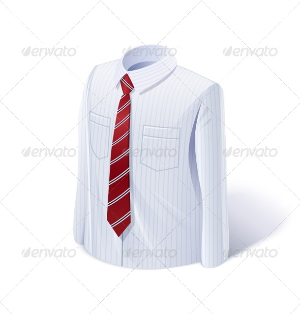 White Shirt with Tie - Man-made Objects Objects