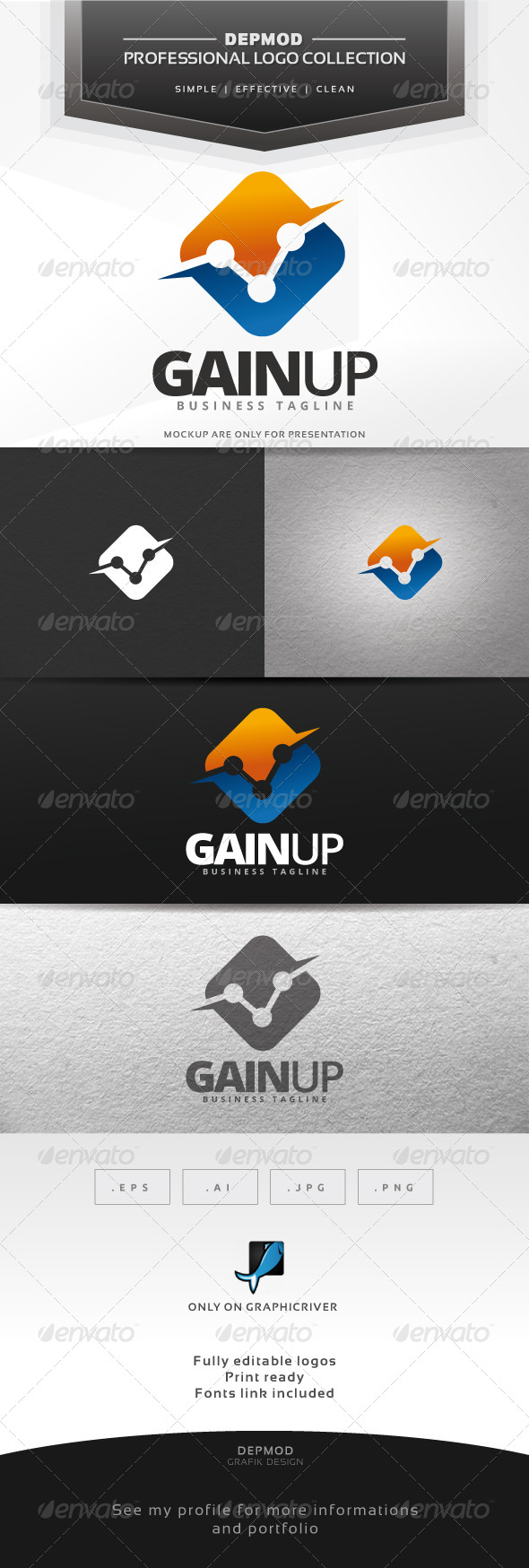 Gain Up Logo - Symbols Logo Templates