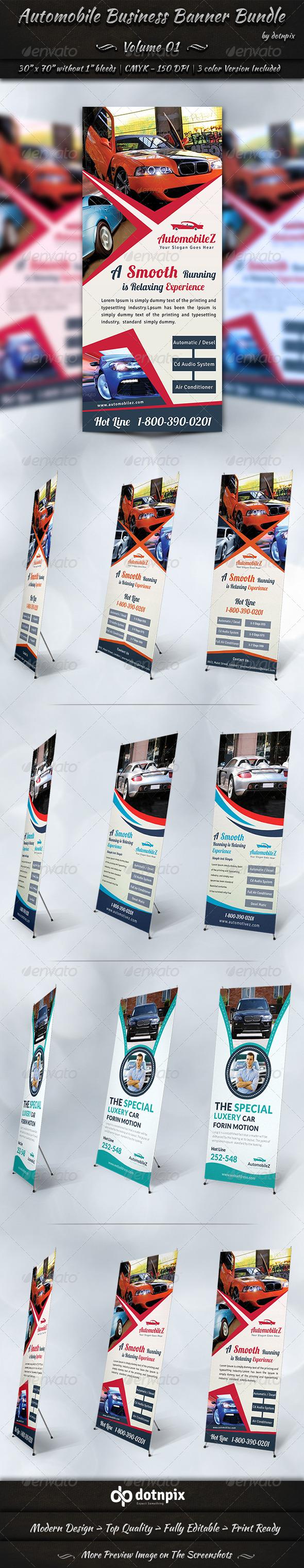 Automobile Business Banner Bundle | Volume 1 - Signage Print Templates