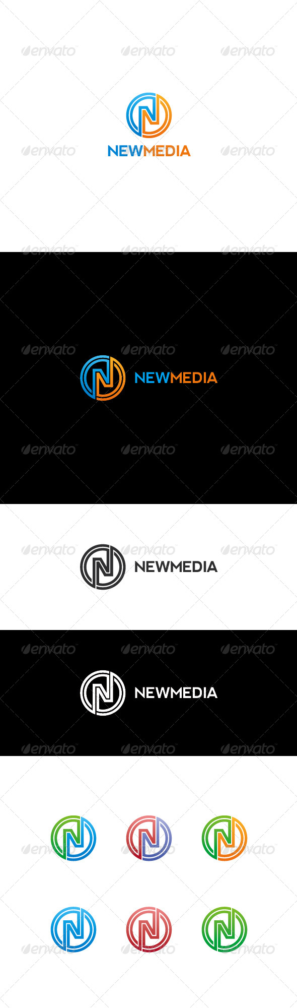 N Letter Logo | Newmedia - Letters Logo Templates